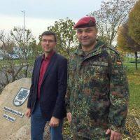 Oberstleutnant Rocky Vogel und Alexander Lorenz Stadt Delitzsch